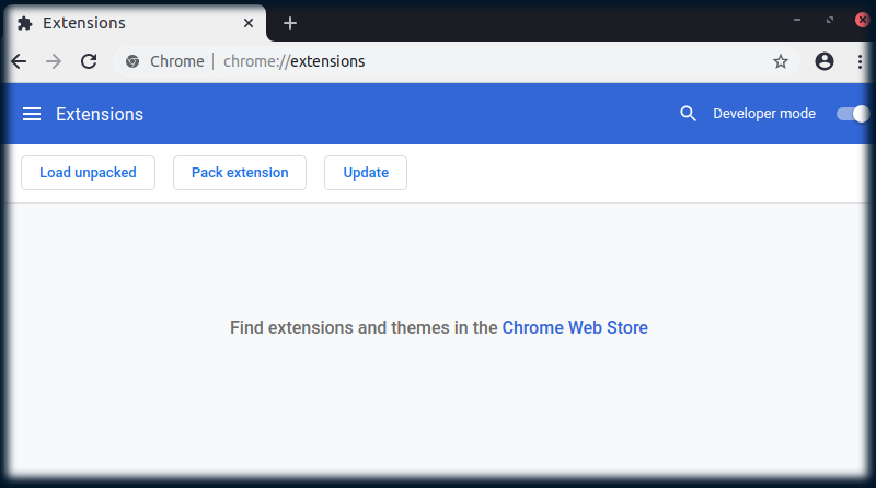 Test extensions chrome